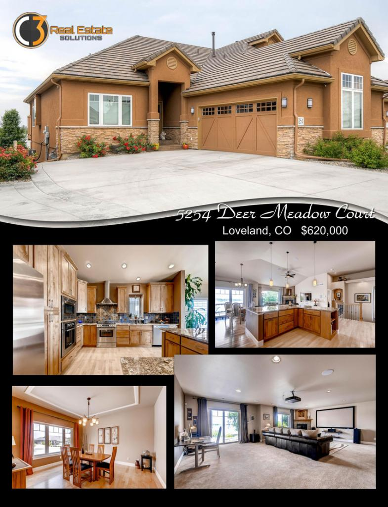 5254 Deer Meadow Court, Loveland Colorado, sold by Nancy Baxter, Realtor for 3C Real Estate Solutions